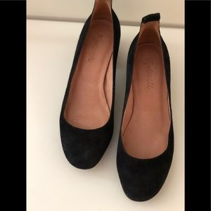 Authentic- Genuine Leather Suede Pumps.